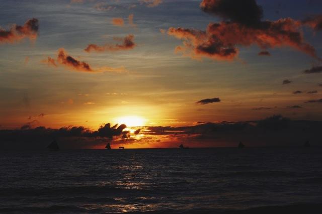 Sunset in Boracay Island